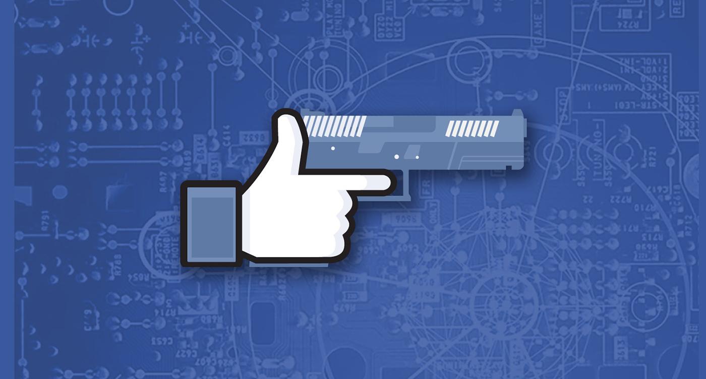 Weaponizing Facebook Like Pistol