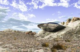 Crashed Flying Saucer