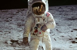 Buzz Aldrin on the surface of the Moon during the Apollo 11 mission