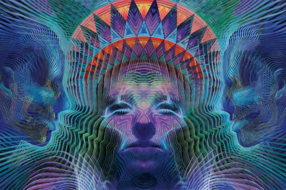 Psychedelic art by Luke Brown