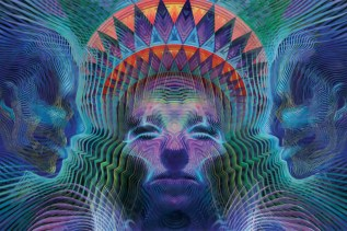 Psychedelic art by Luke Brown