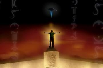 Magician summoning a UFO