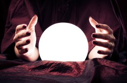 Psychic with crystal ball