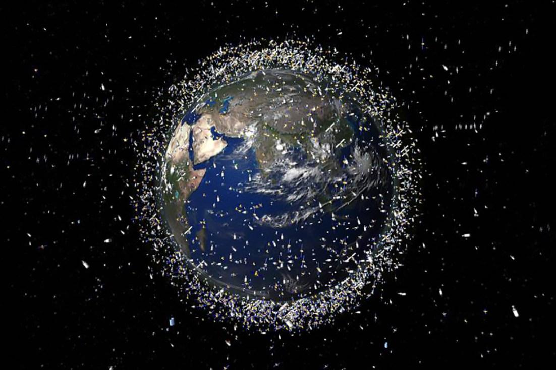 Kessler Syndrome - satellite debris around Earth