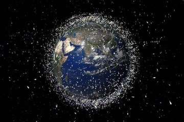 Kessler Syndrome - satellite debris around Earth
