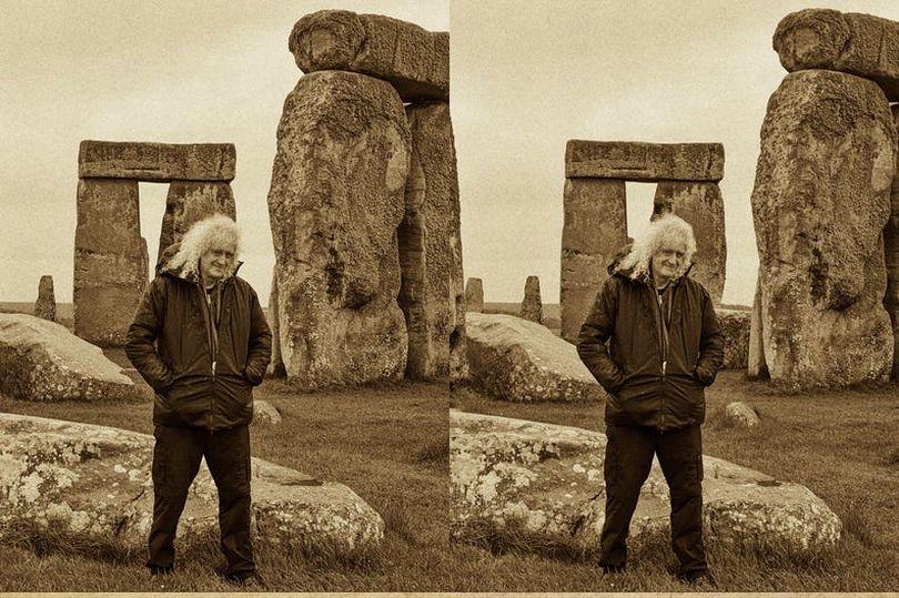 Rock god Brian May at Stonehenge