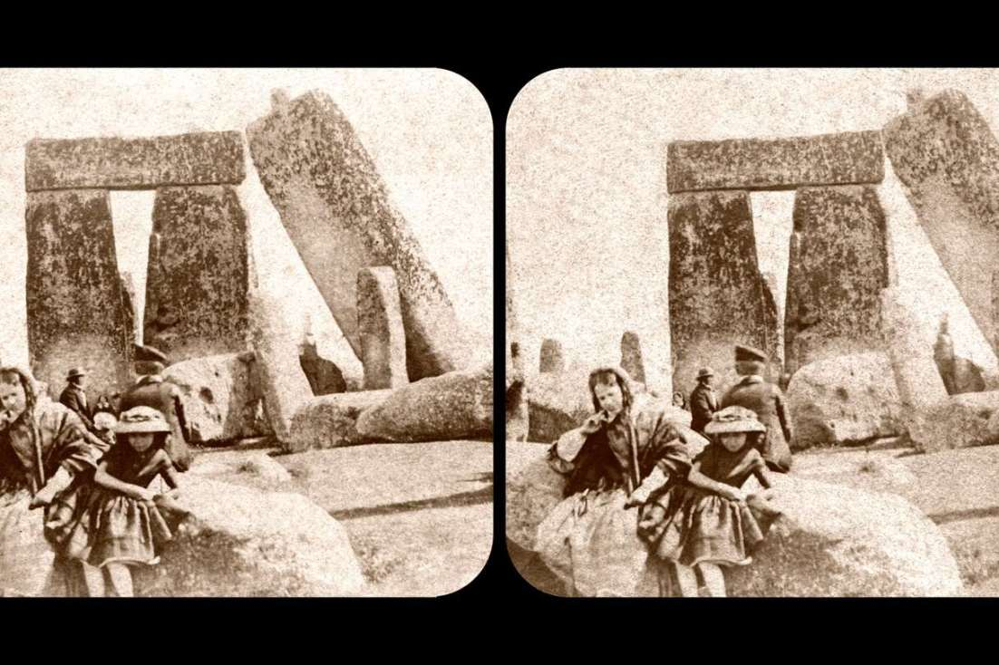 Stereoscopic image of Stonehenge in the 1860s from Brian May's archive