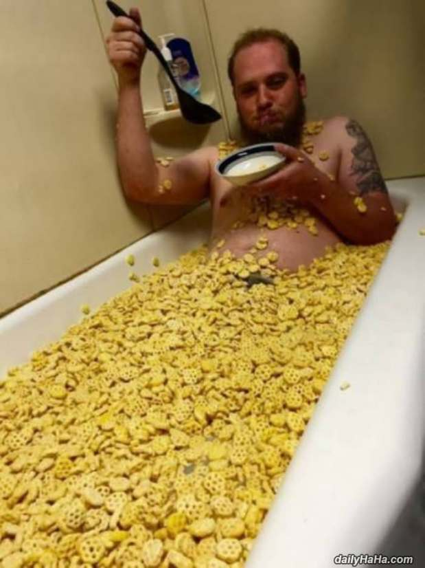 guy loves cereal funny picture