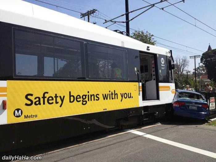 it begins with you Trolley Meets Auto In Safety Lesson