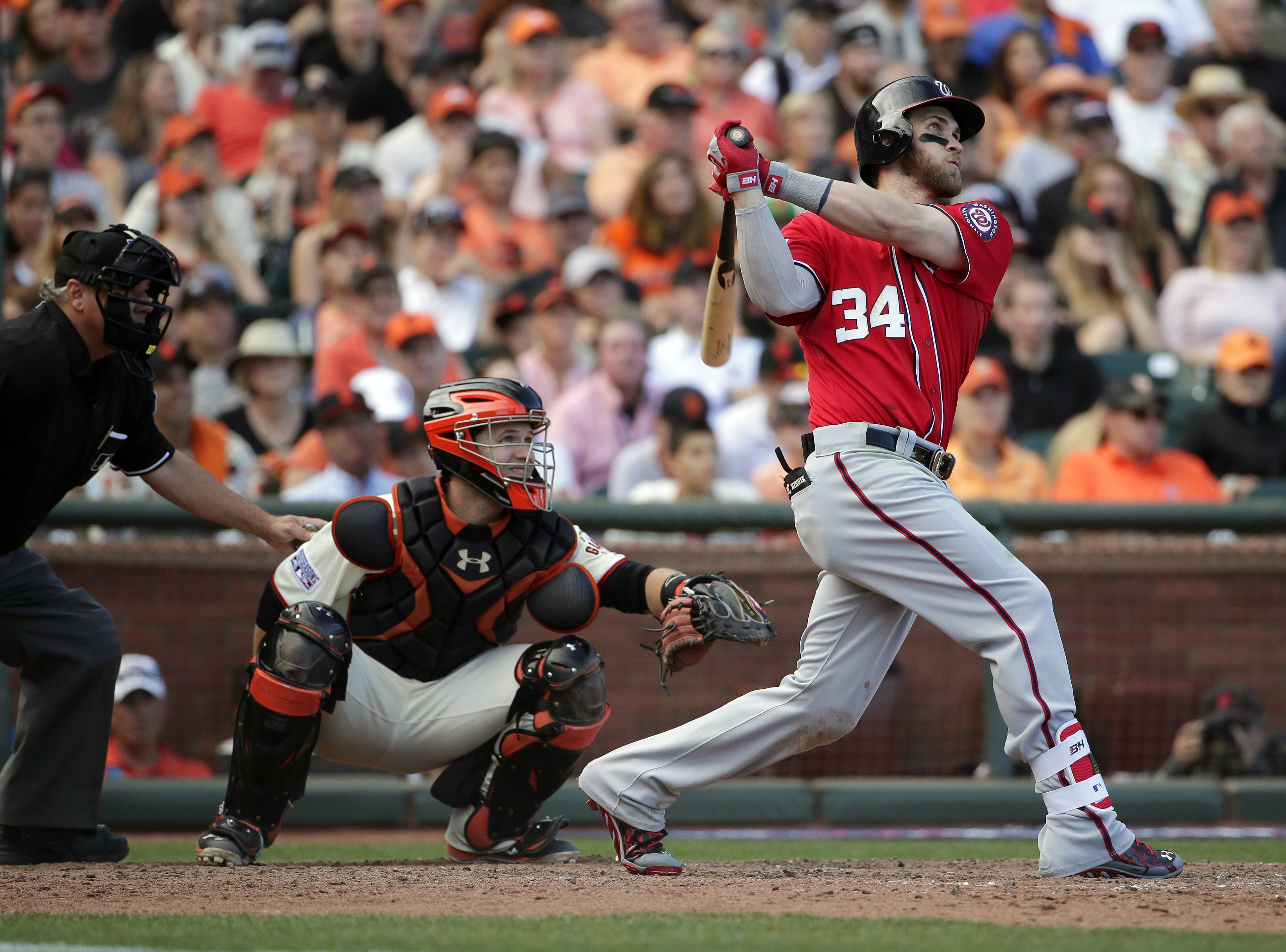 Image result for 2014 nlds game 3 harper home run