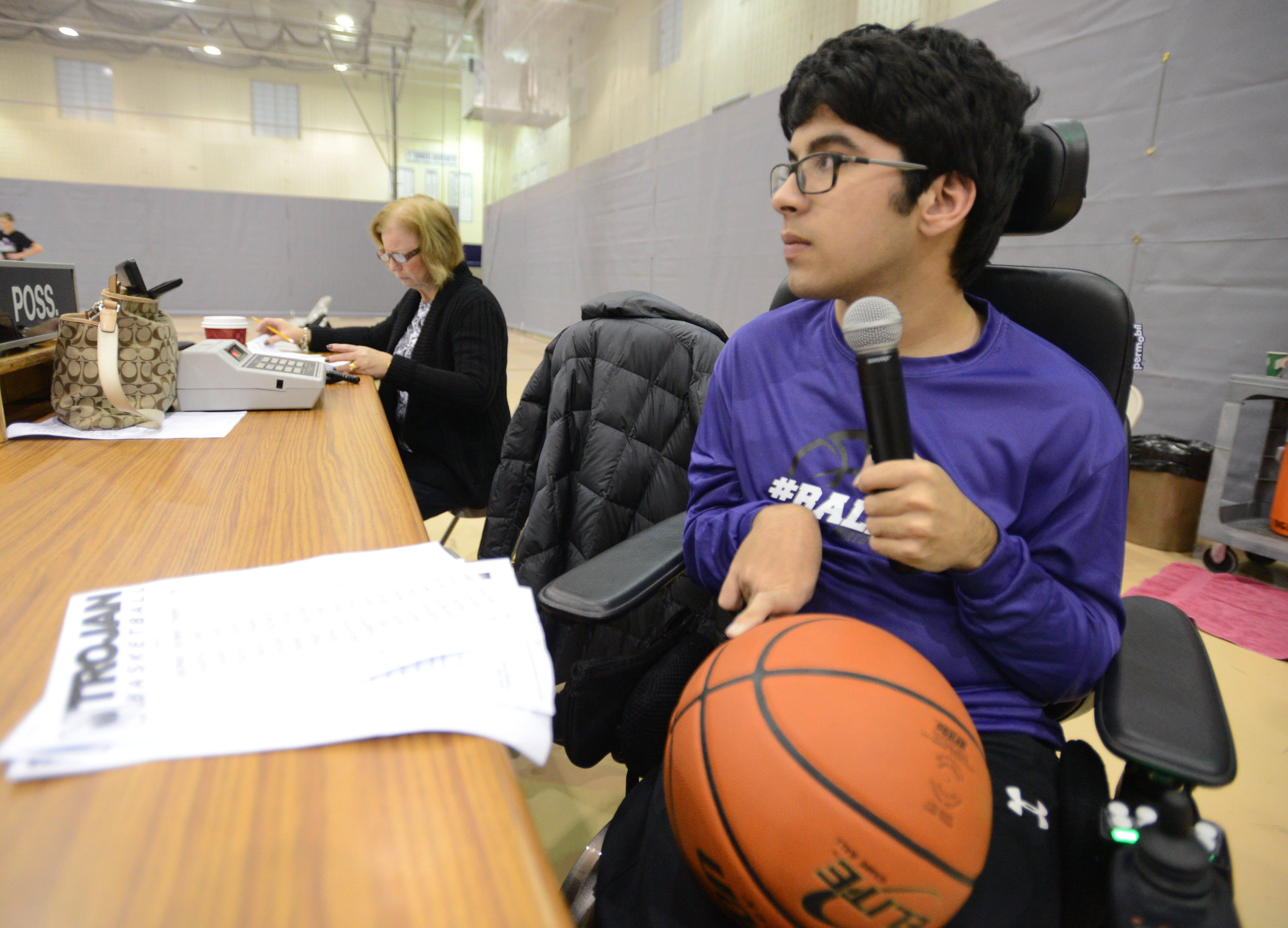 Zain Bando, 15, of Downers Grove, has channeled his love for sports into broadcasting. Along with the Internet-based sports talk radio show he hosts, Zain announces games at Downers Grove North High School.