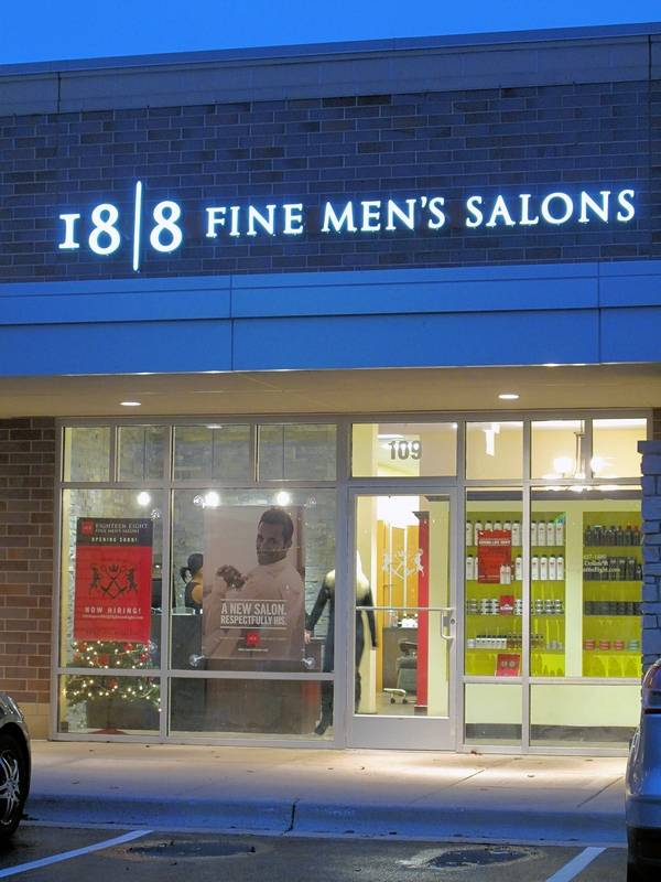 The 18 I 8 Fine Men's Salons location in Naperville could be one of the first two salons cleared to apply for a liquor license in the city. The franchise owner first sought permission before the store opened in December 2015.