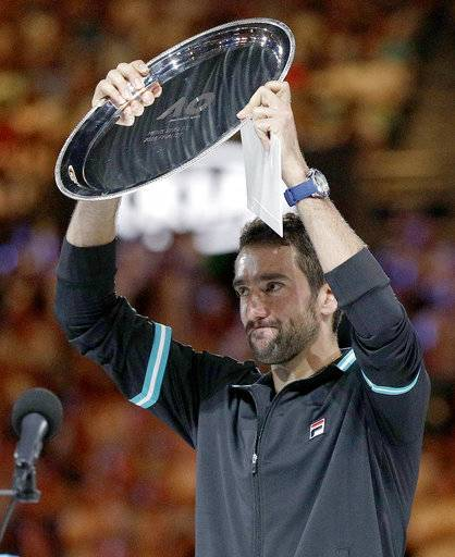 Cilic blames slow start to Aussie final on closed roof