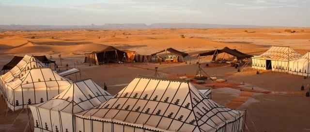 Royal desert camp at Sahara