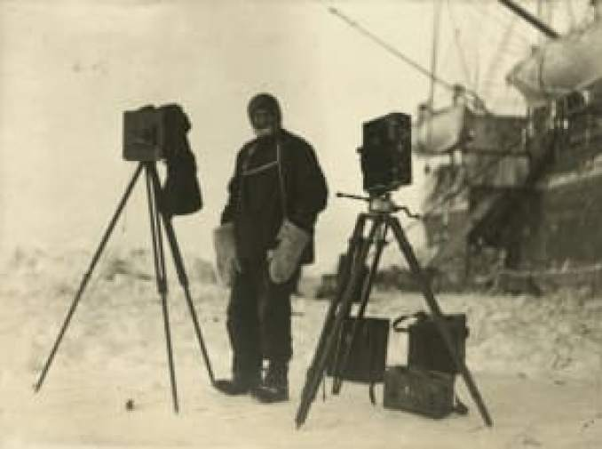 Photographer Frank Hurley, Shackleton Expedition
