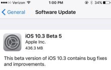 Apple Seeds iOS 10.3 Beta 5 to Developers