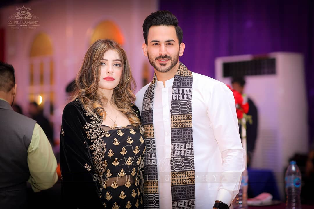 Newly Wed Couple Shan Baig with his Wife Michelle at a Wedding Event