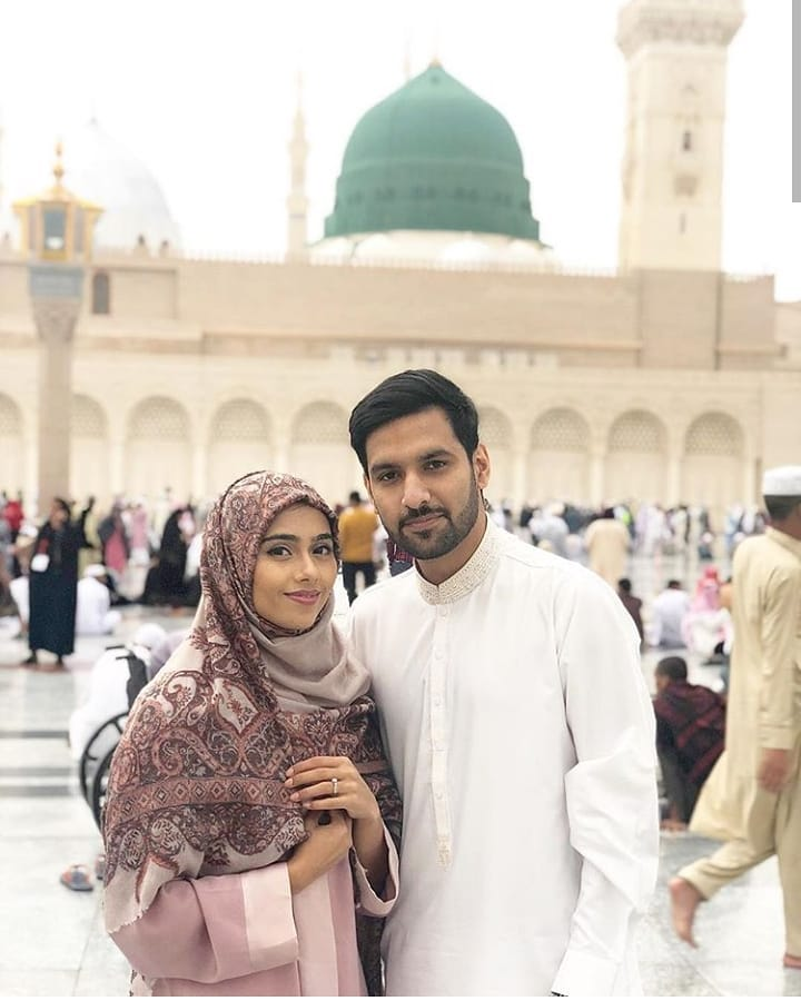 Zaid Ali with his Wife Yumnah Performed Umrah