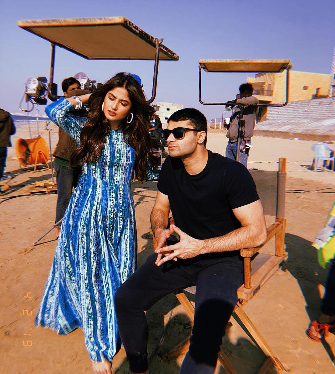New Awesome Photos of Sajal Aly at Beach for Photoshoot of an upcoming Project