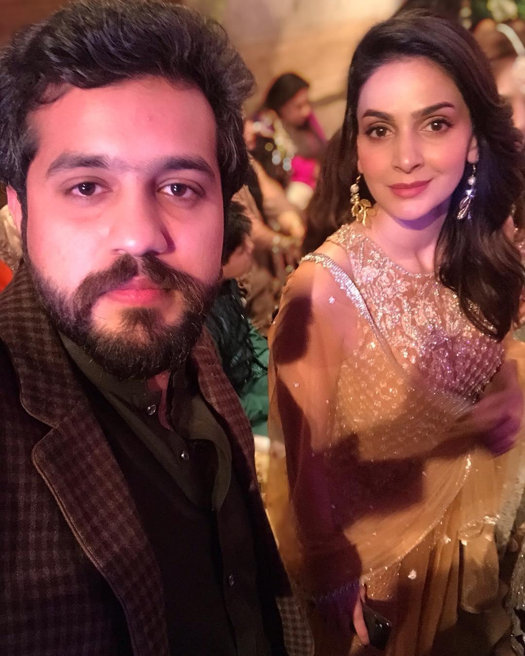 Awesome Photos of Star Saba Qamar at Salman Faisal Mehndi