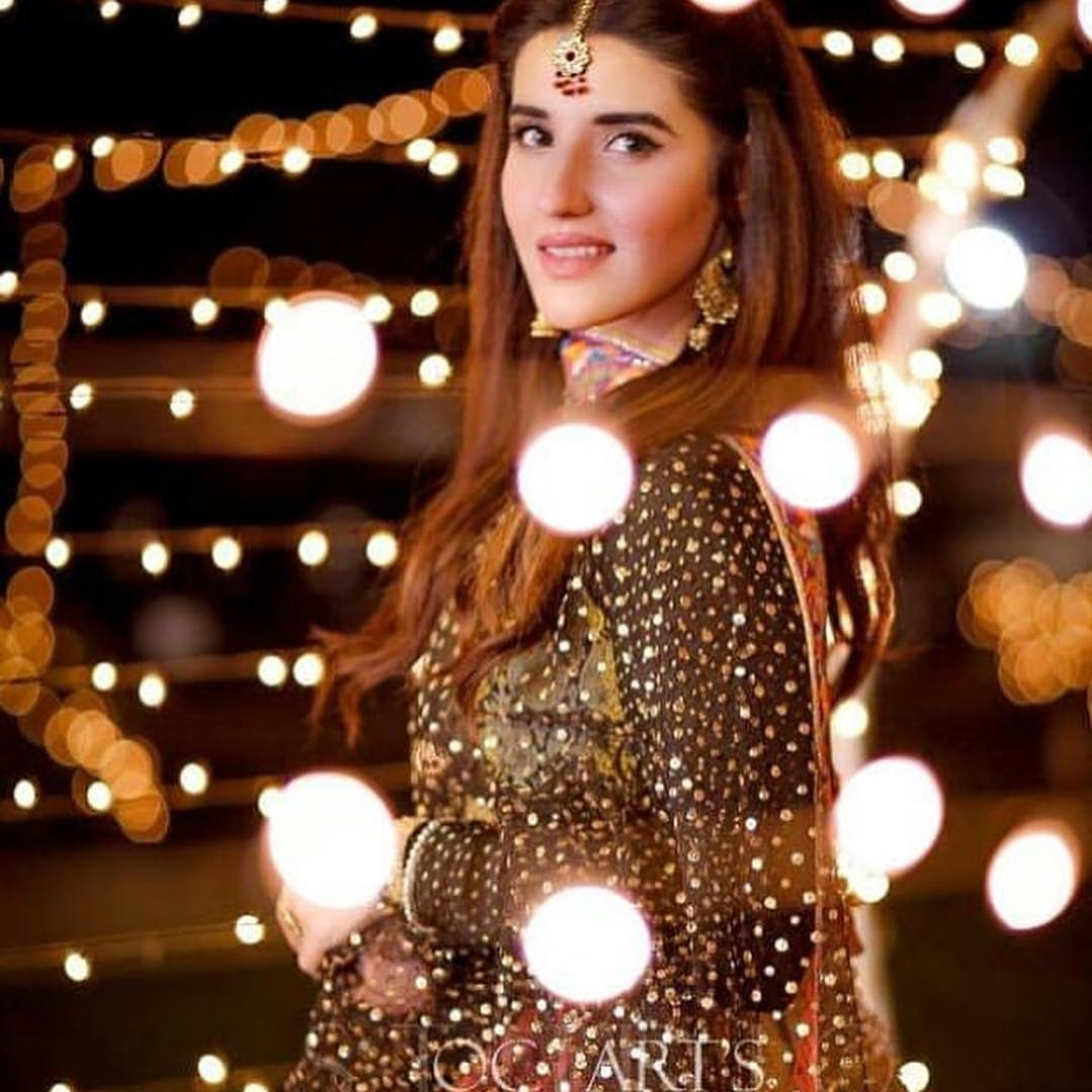 Awesome Photos of Hareem Farooq at a Wedding Event