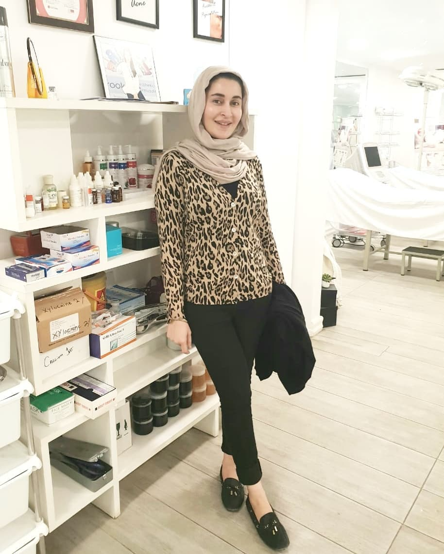 Kubra Khan at Shaista Lodhi Aesthetic Clinic for some Treatment