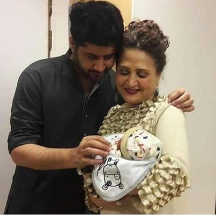 Asma Abbas with Imran Ashraf's New Born Son