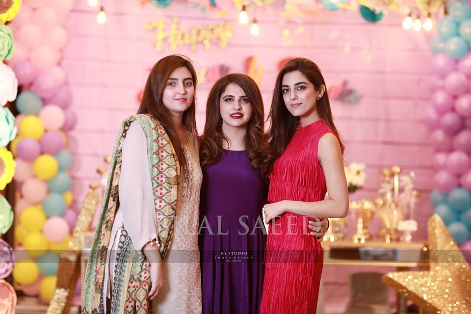 Maya Ali with her Family at a Birthday Party