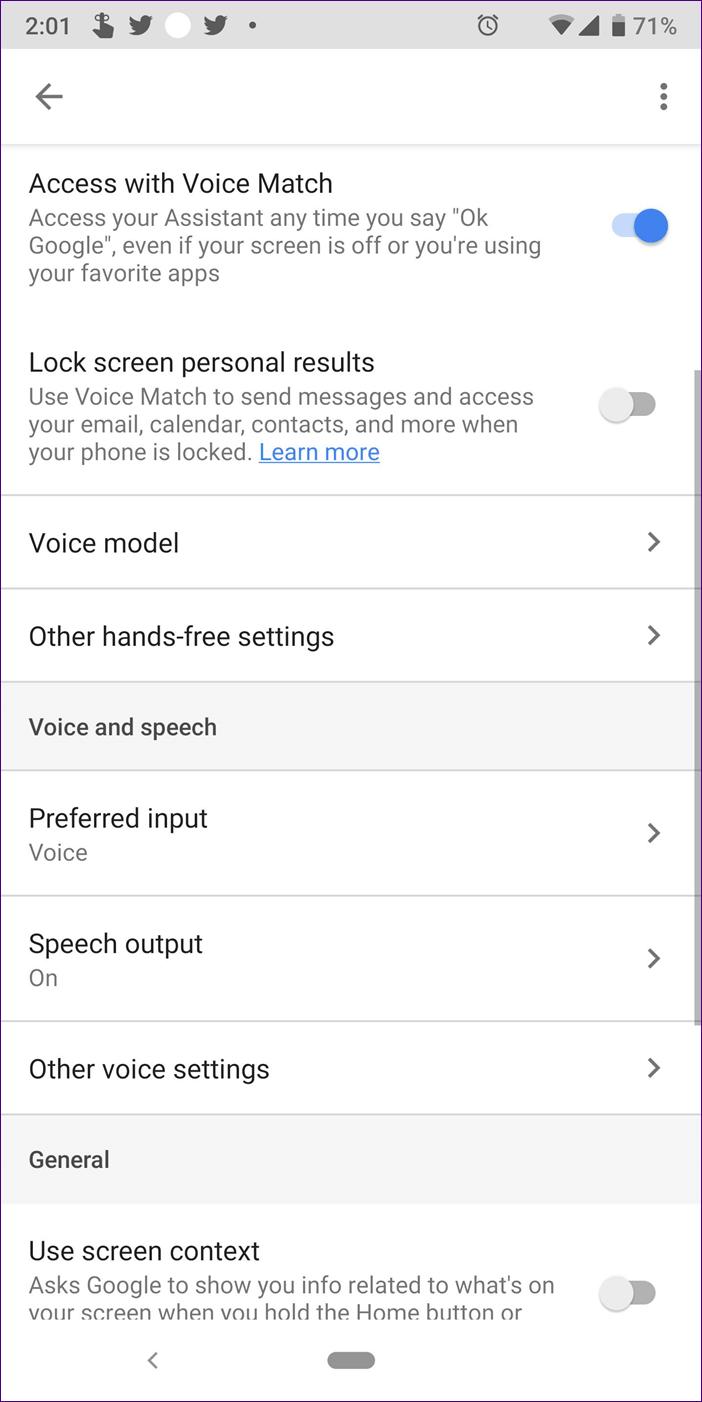 Google Assistant Settings 22