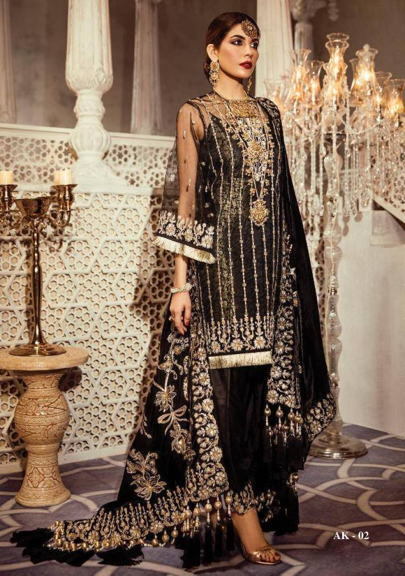 "Stylish New Wedding Collection ""Riyasat"" By Anaya & Kamiar Rokni For Yr 2019"
