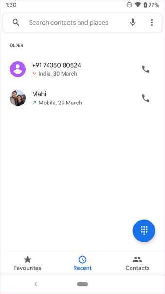 Google Recent