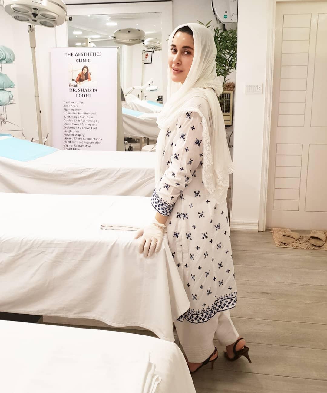 Benita David Getting Botox Treatment from Dr shaista Lodhi