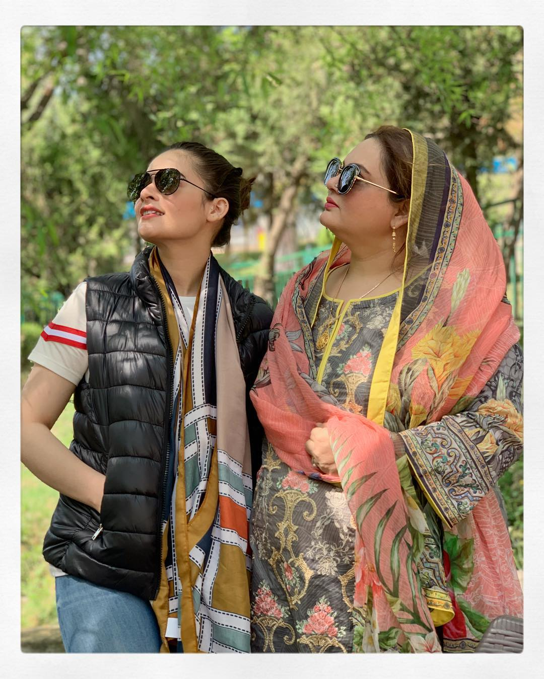 New Photos of Minal Khan with her Mother in Muree