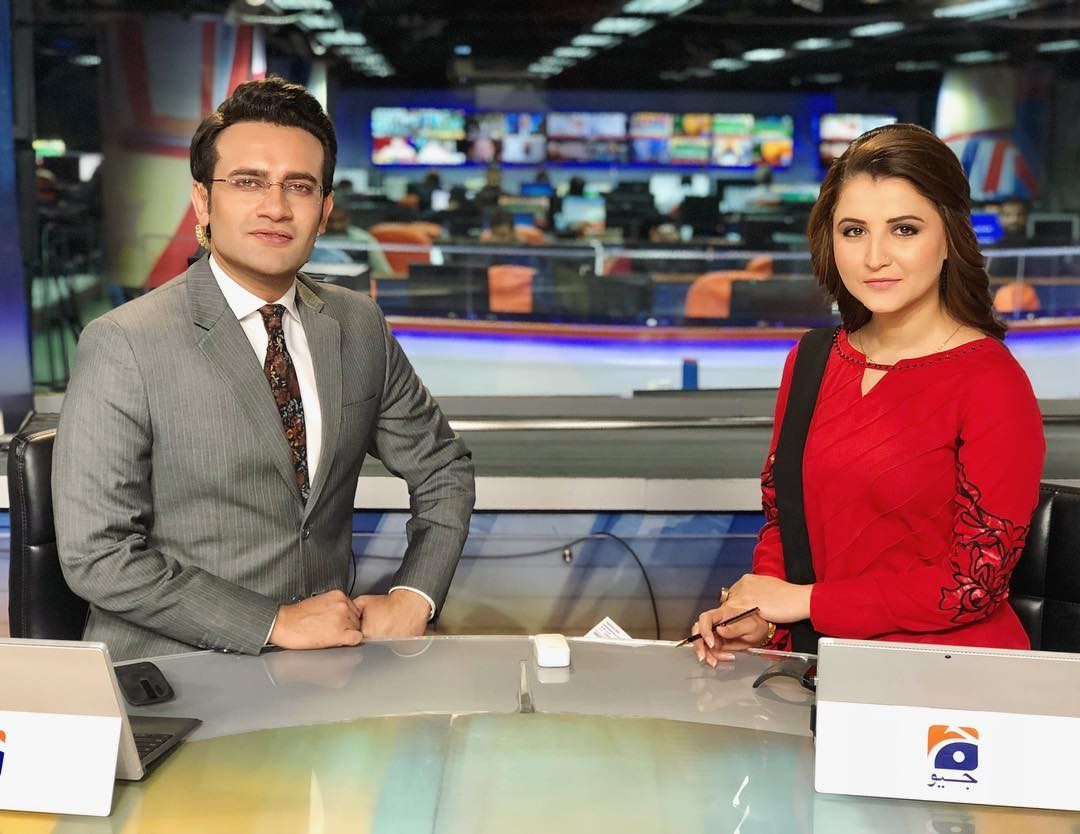 Famous Anchor Neelum Usaf with her Husband at a Wedding Event