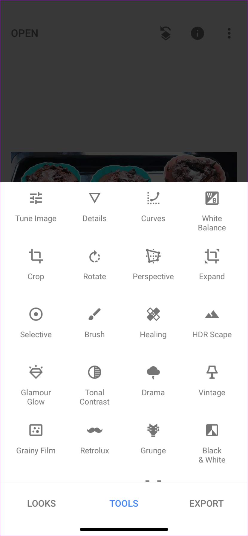 Snapseed Options