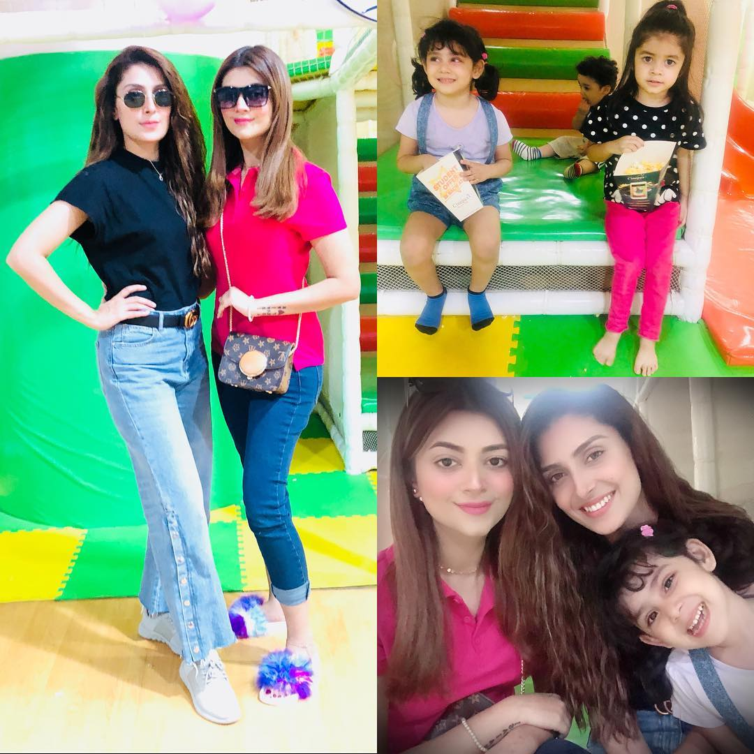 Awesome Photos of Ayeza Khan and Afifa Jibran with their Daughters