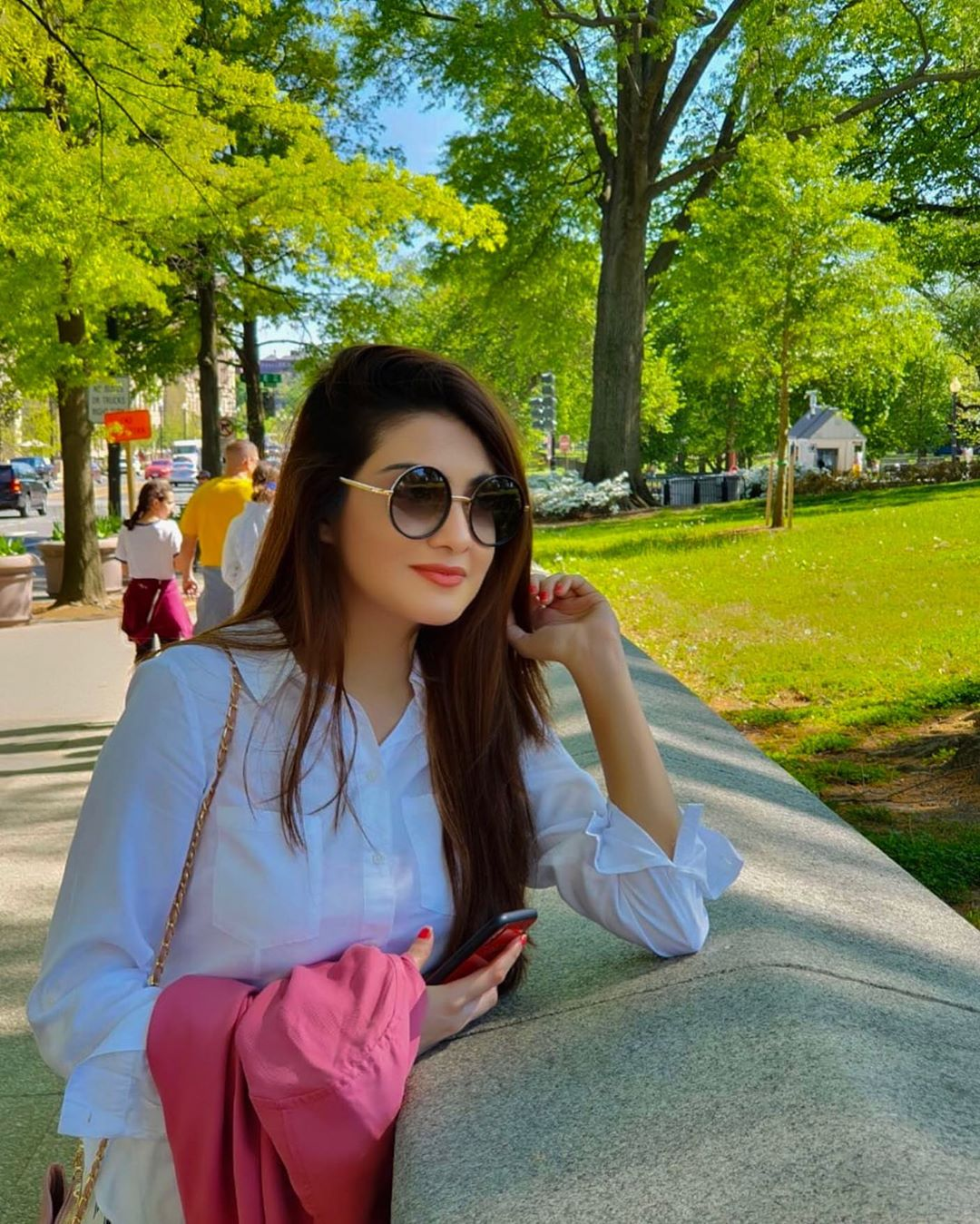 Awesome Photos of Actress Aleezay Tahir with her Husband in United States