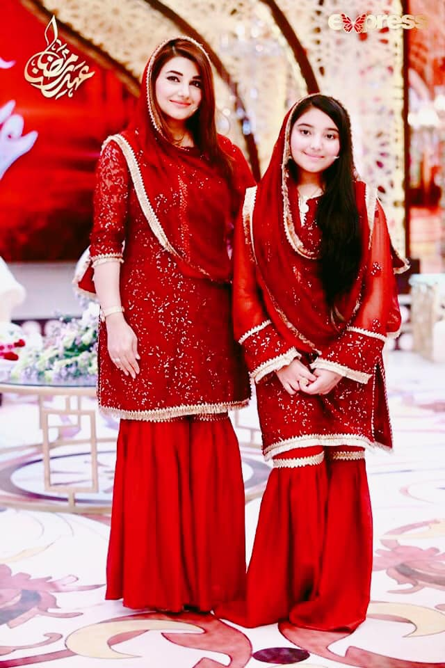 Awesome Photos of Javeria Saud with her Family in Express Tv Ramzan Transmission