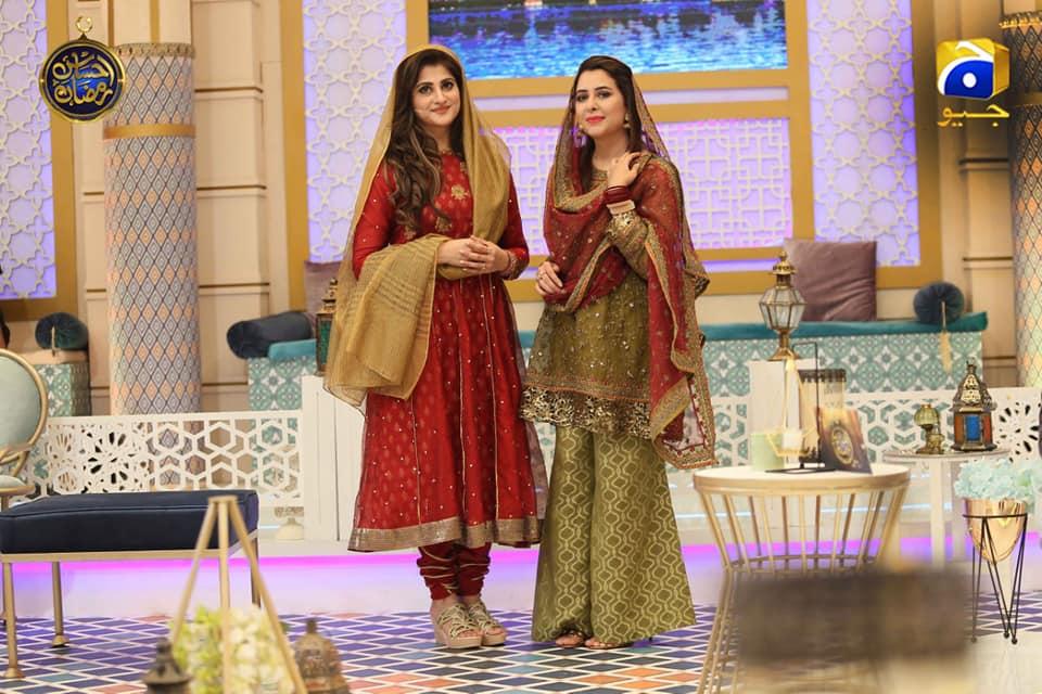 Awesome Photos of Sahiba and Rambo in Geo Tv Ramzan Transmission