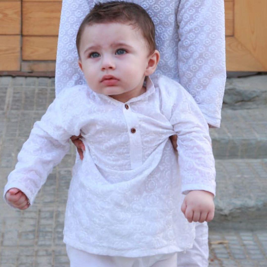 Fatima Effendi and Kanwar Arsalan Celebrating Eid with their Cute Kids