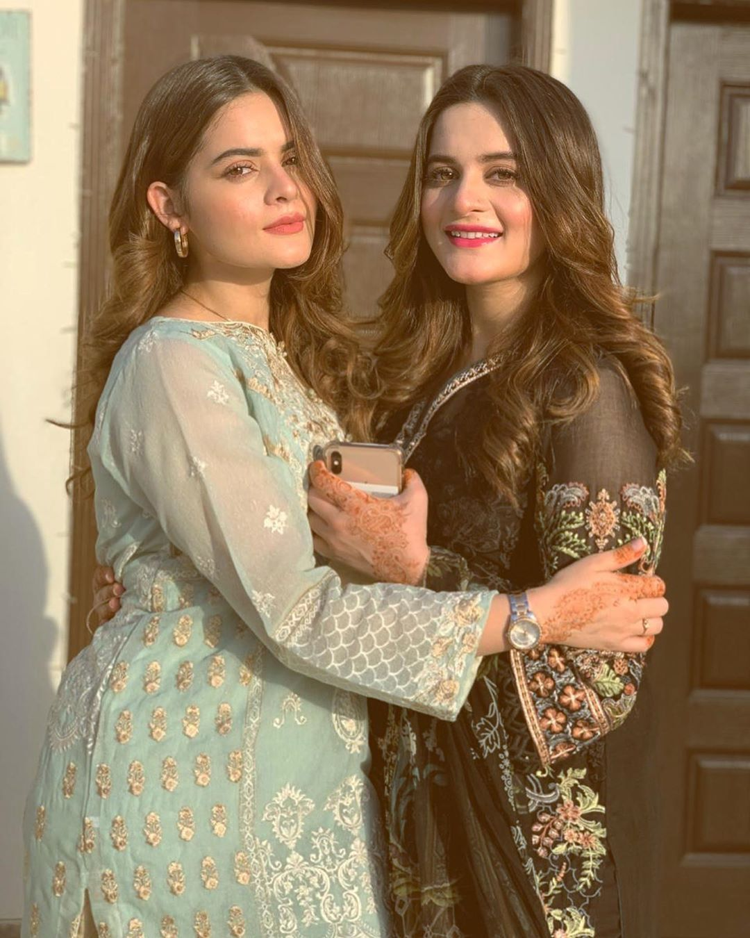 New Eid Photos of Aiman and Minal with Family