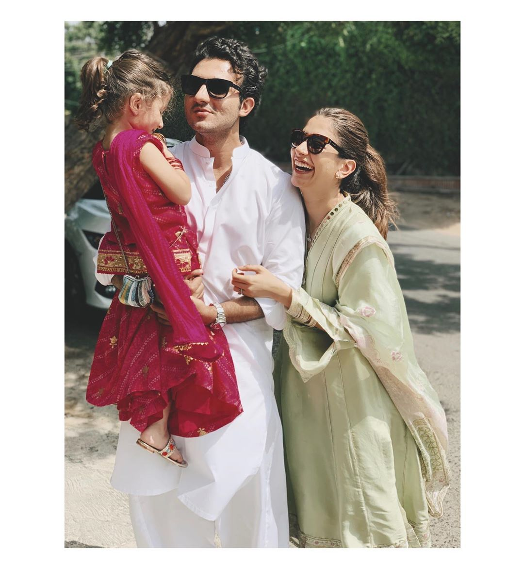 Awesome Eid Photos of Syra and Shahroze with Family