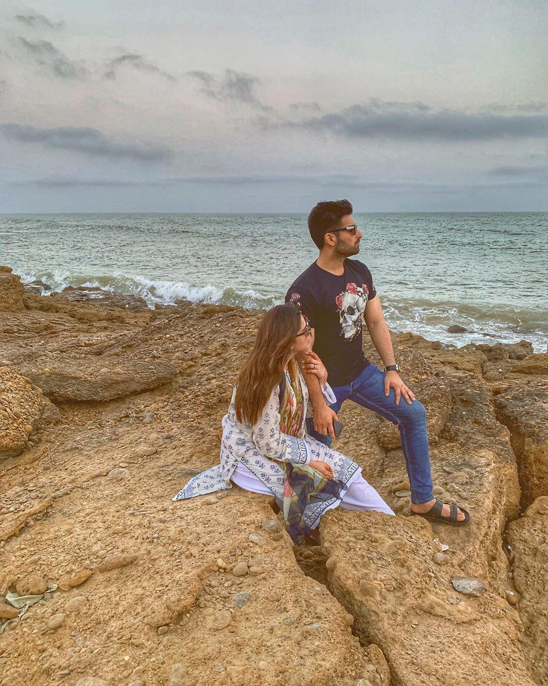 Aiman Khan & Minal Khan Clicks from A Day Spent At Beach