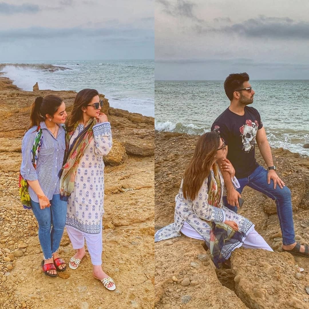 Awesome Photos of Aiman Minal and Muneeb Spent a Day at Beach