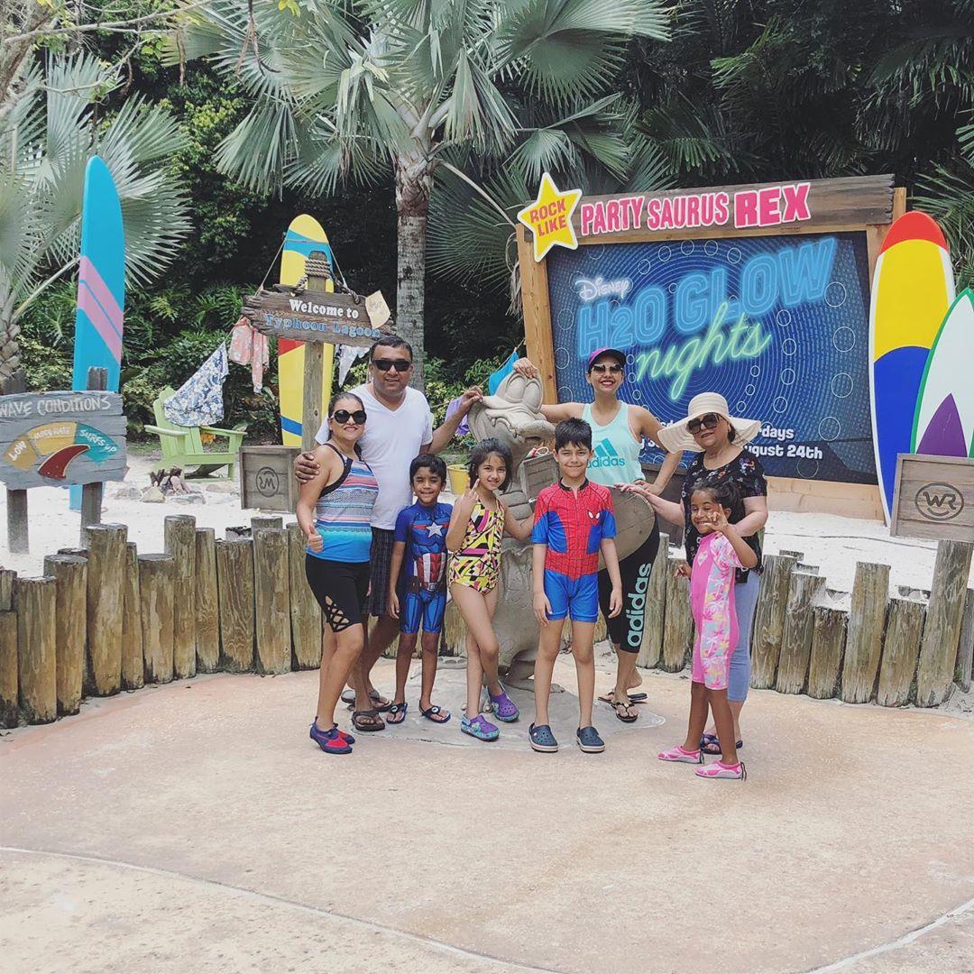 Sunita Marshal's Clicks with Her Kids at Disney's Typhoon Lagoon