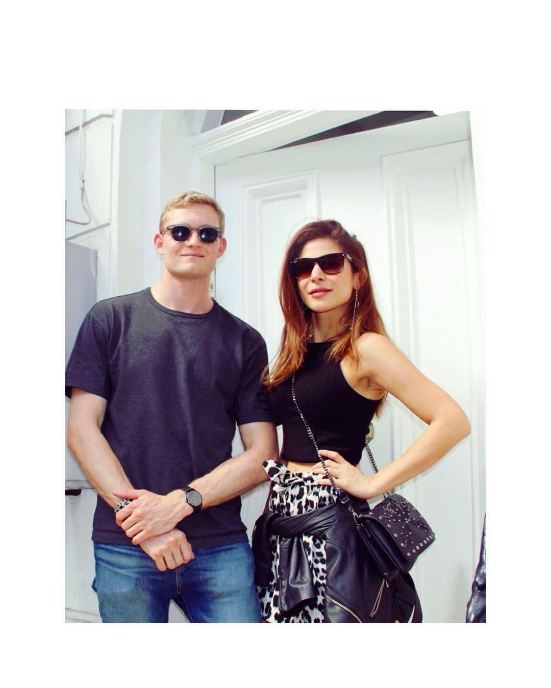 Ayesha Omar Cute Posses while Enjoying in London