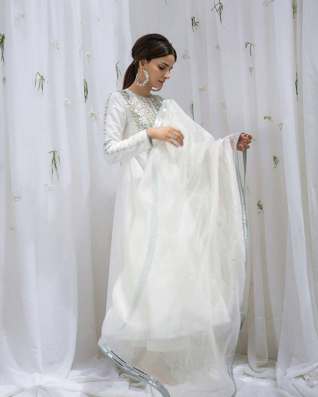 Gorgeous Saba Qamar Looking Stunning in White