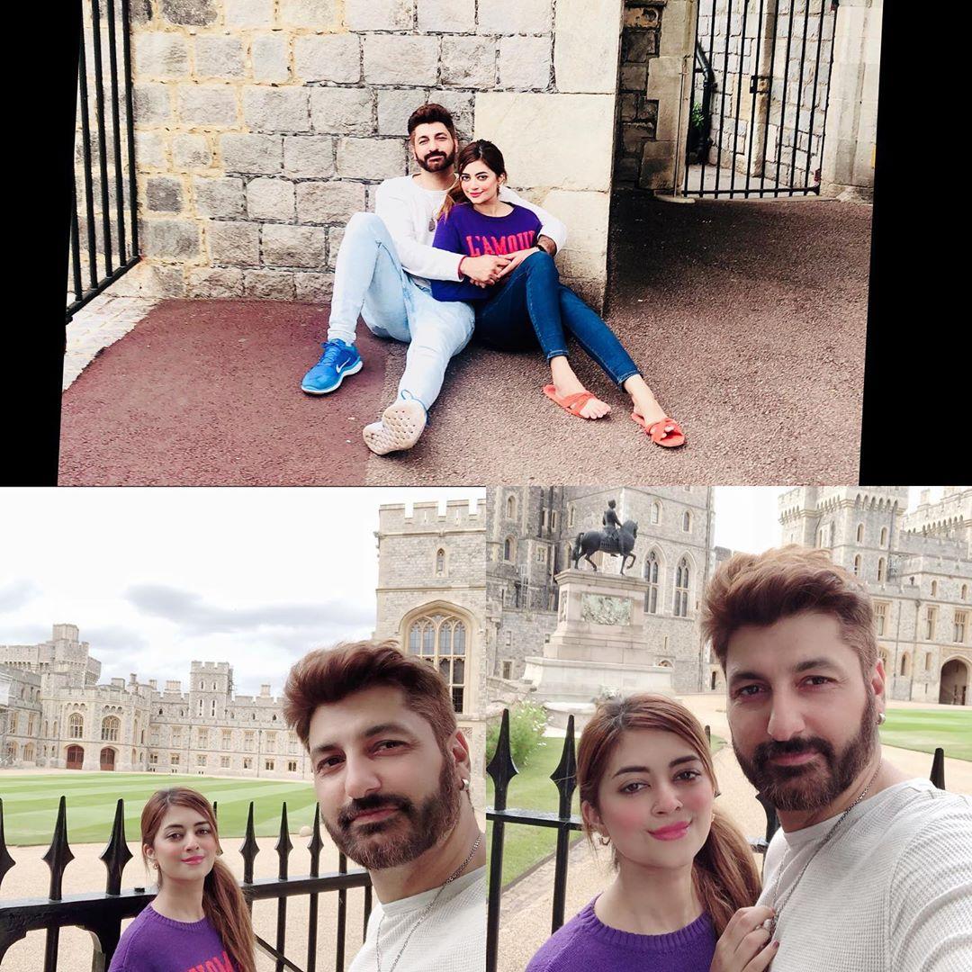 Syed Jibran with Afifa Jibran Having Leisure Time in London