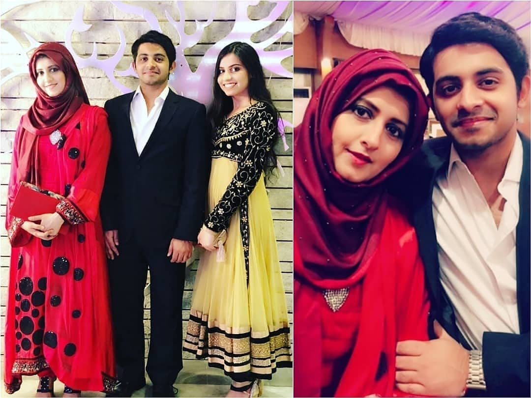 Bushra Amir Pictures with her Kids at a Wedding Event