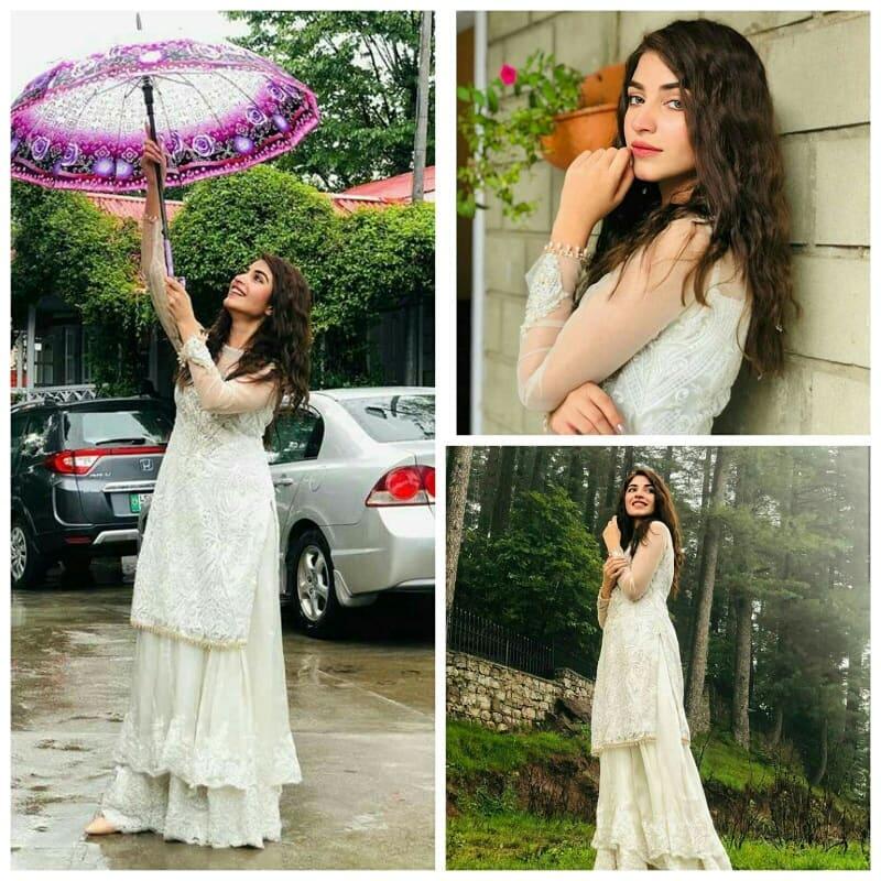 Beautiful Kinza Hashmi Celebrating Eid in Muree